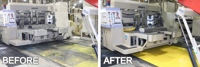 Before and After Equipment Cleaning and Painting