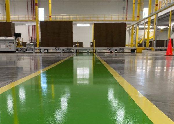 UV floor protection at the industrial facility